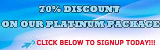 70% Discount on platinum package
